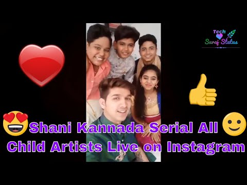 Shani Kannada Serial All Child Artists Live On Instagram | Shani,Hanuma,Yama,Yami & Kakaraja