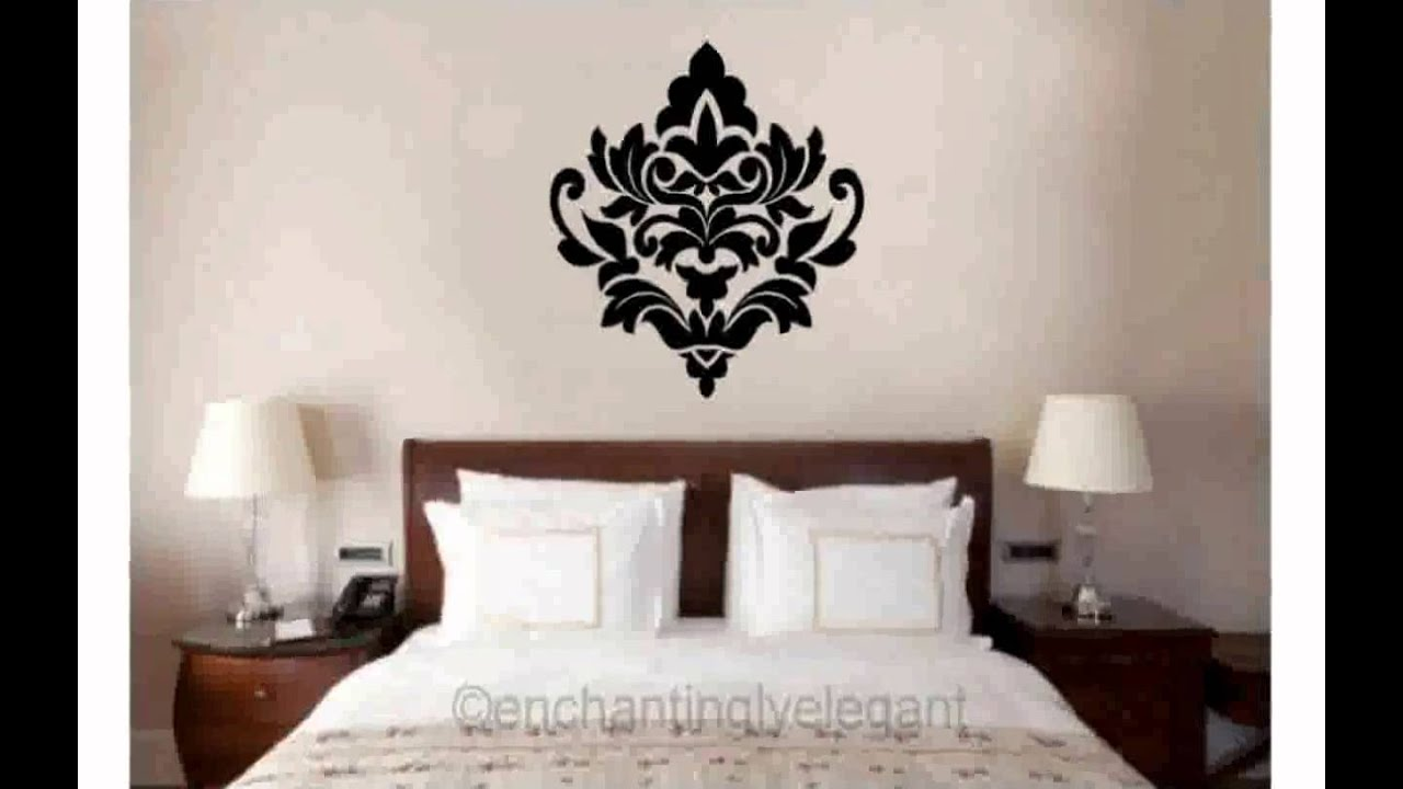 Bon Damask Wall Decals   YouTube