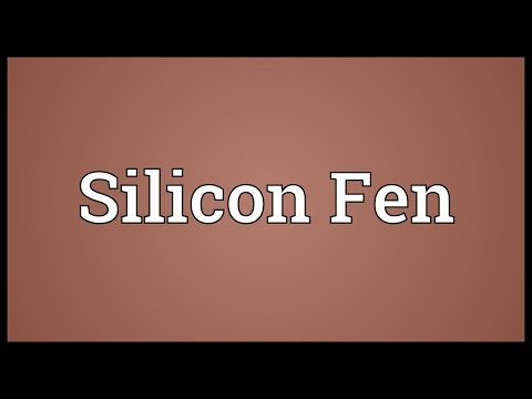 Silicon Fen Meaning