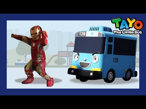 Where are you daddy? with Little Iron Man l Tayo in Real Life #13 l Tayo the Little Bus