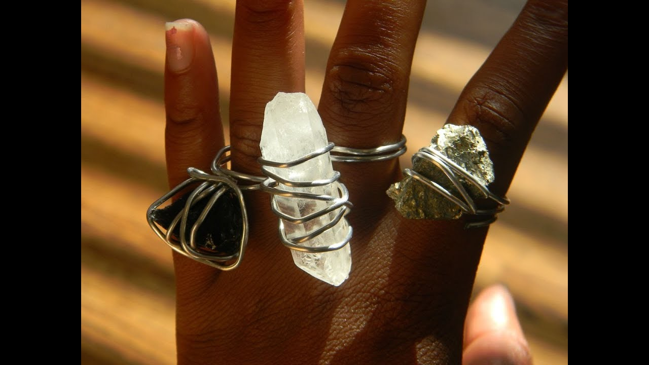How to make a cool wire wrapped rock ring youtube for How to make rock jewelry
