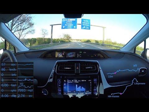 #20 Prius 4 - AUTO BILD Teststrecke Teil 1: Hamburg - Lütjensee (Remake)