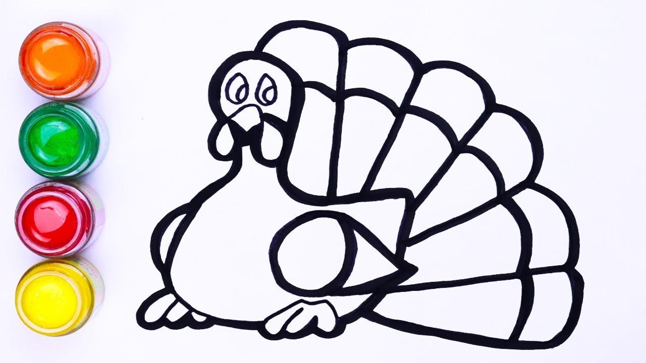 Menggambar Mudah Dan Paiting Ayam Kalkun