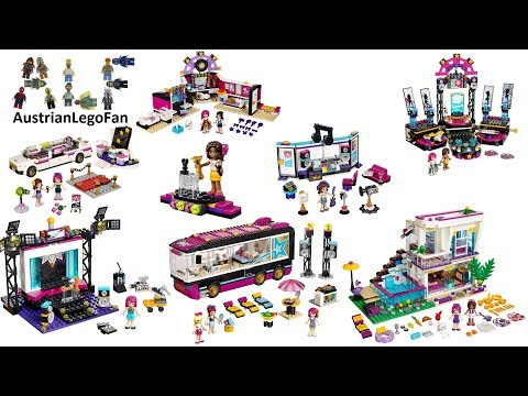 All Lego Friends Pop Star Sets 2015 + 2016 - Lego Speed Build Review