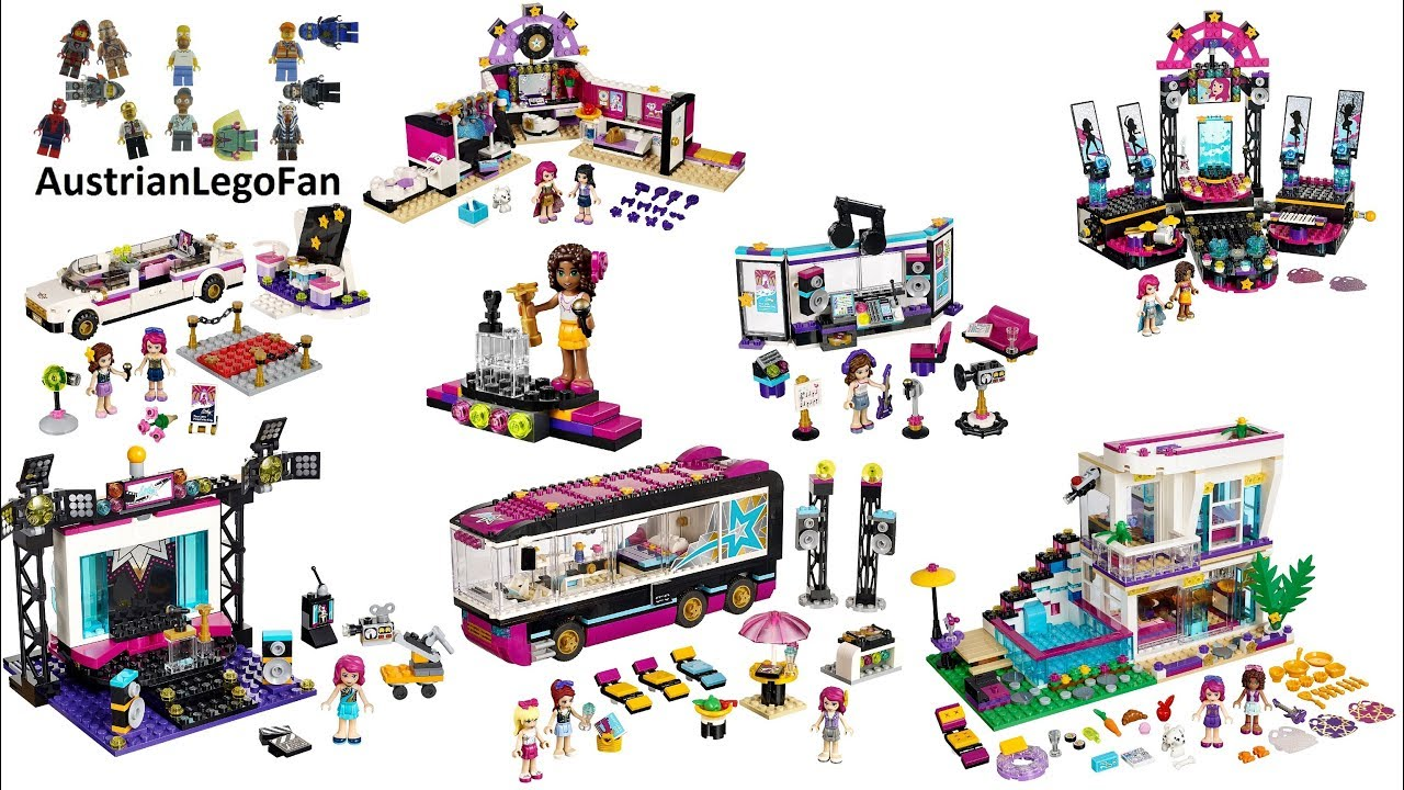 All Lego Friends Pop Star Sets 2015 2016 Lego Speed Build Review