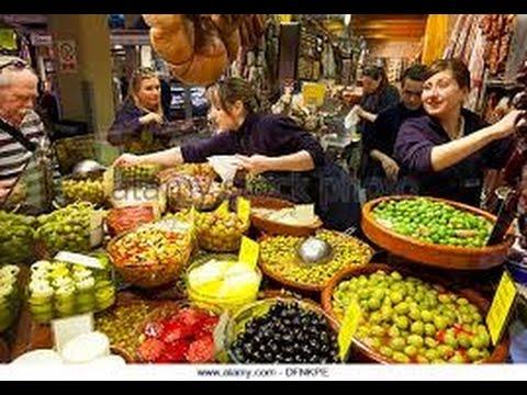 Mercat de L'Olivar FARMERS MARKET Palma de Mallorca 4K