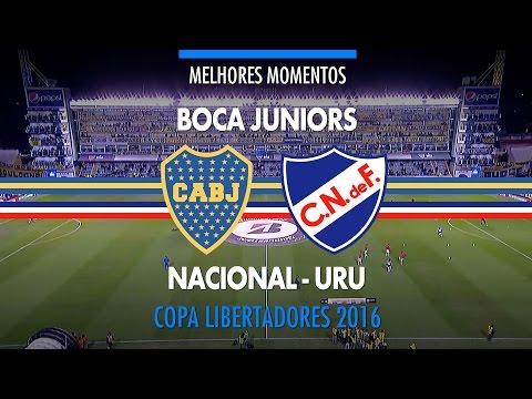 Melhores Momentos - Boca Juniors 1 x 1 Nacional-URU - Libertadores - 19/05/2016