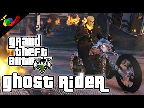 GTA 5 MOD ITA - Ghost Rider Cazzeggio EPICO!!