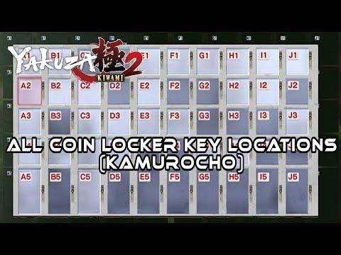 Yakuza Kiwami 2 I ALL Coin Locker Key Locations (Kamurocho)