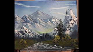 Mountains and more Mountains - wet on wet - oil painting