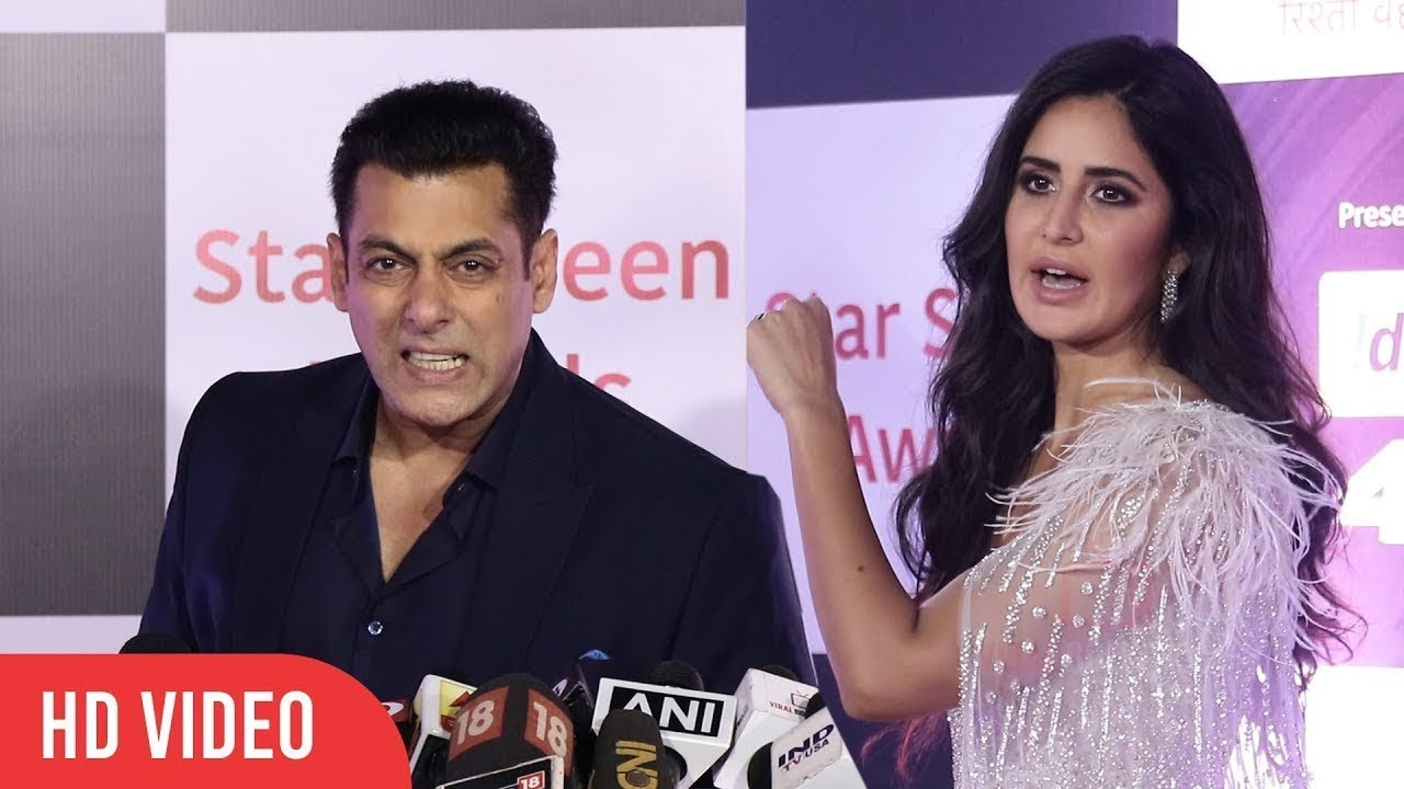 Salman & GIRLFRIEND Katrina Kaif At Star Screen Awards 2018