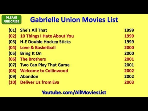What Movies Is Gabrielle Union Famous For?