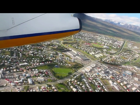 Air Iceland Dash 8 Q200 Akureyri-Reykjavik Safety, Takeoff, Inflight, Landing