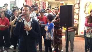 kashy keegan performing this is my dream in the street of mong kok hong kong