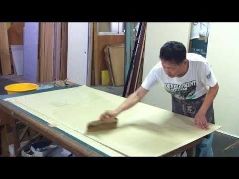 """Japanese traditional artisan(making paper slide door""""Fusuma"""")"""