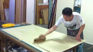 "Japanese Traditional Artisan(making Paper Slide Door""fusuma"")"