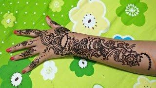 খুব সহজে নিজেই করুন দারুণ এই মেহেদী ডিজাইন - Back Hand Mehndi Designs Step by Step - Episode 2