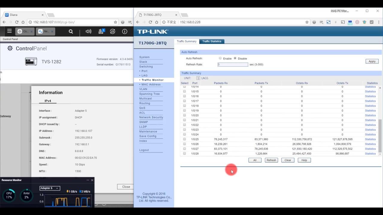 QNAP TVS-1282 & TVS-473 : Mellanox ConnectX-3 EN 10GbE iperf3 Test