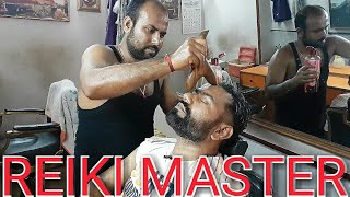 Guasha Head Massage Therapy Part Two With Neck Cracking And Face Wash By Reiki M