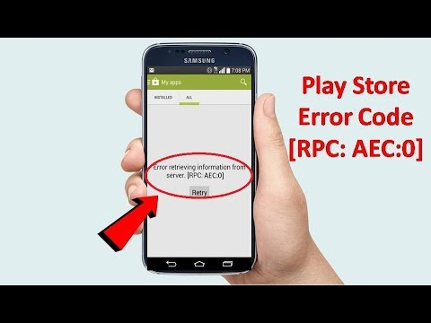 How to Fix Google Play Store Error RPC: AEC:0 in Android