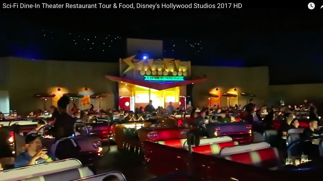 Sci Fi Dine In Theater Restaurant Tour Food Disneys Hollywood