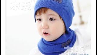 Шапка с шарфом для ребенка! Aliexpress! Китай!