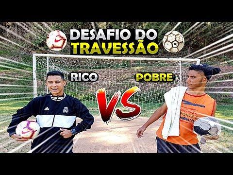 FUTEBOL RICO x POBRE - DESAFIO DO TRAVESSÃO 2019 MENDIGO DESAFIOU O RIKINHO QUEM VENCEU?!
