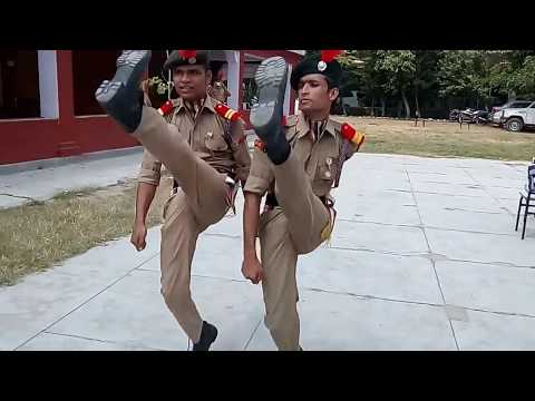 NCC DRILL BY BAREILLY GROUP