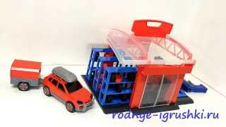 Игрушечный гараж с шиномонтажом(Вы можете купить игрушечный автосервис в интернет-магазине