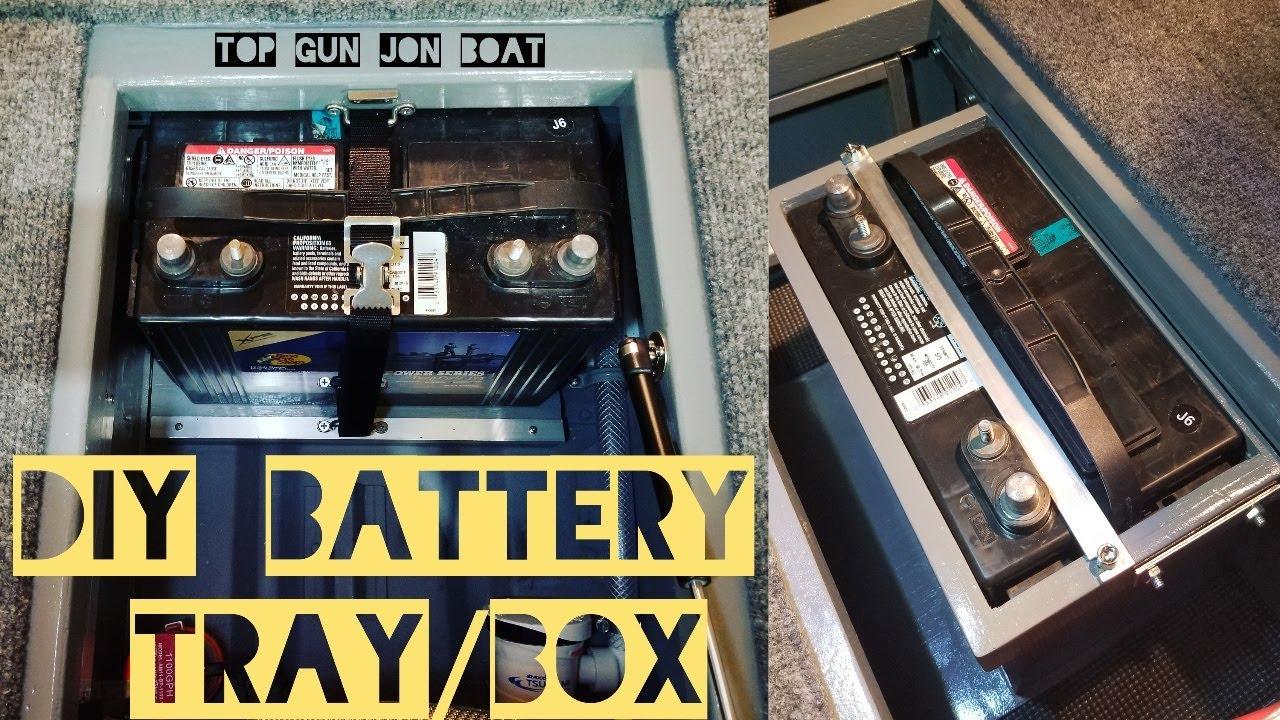 Diy Battery Tray Box In Jon Boat To Bass Boat Youtube