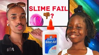 My First Time Making Slime! #Fail Or #Pass?
