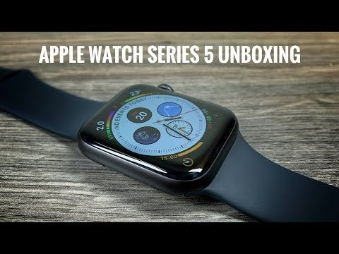 Apple Watch Series 5 Space Grey Unboxing & Setup