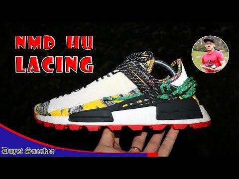 Hướng dẫn buộc dây giày NMD Human Race - SolarHU   NMD HU lacing   Vlog 36 – Duyet Sneaker