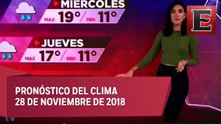 Clima para hoy 28 de noviembre de 2018
