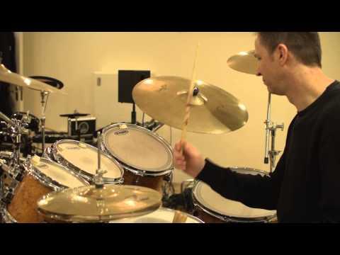 Simon Ash on DC California Drums at Ash Bash Music Studios