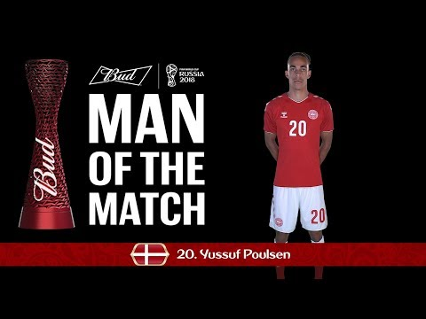 Yussuf Yurary POULSEN (Denmark) - Man of the Match - MATCH 6