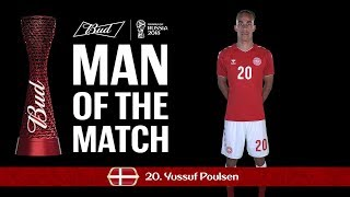 yussuf yurary poulsen denmark - man of the match - match 6