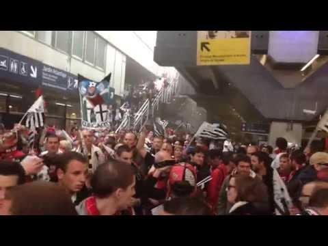 Arrivé des Guingampais à Montparnasse