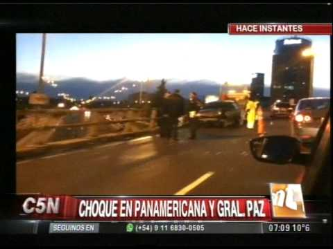 C5N - TRANSITO: ACCIDENTE EN EL EMPALME DE PANAMERICANA Y GENERAL PAZ