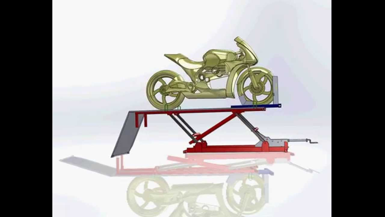 Table l vatrice pour moto youtube for Table elevatrice moto