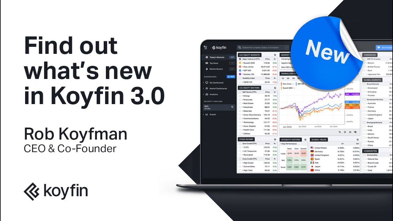 Find Out What S New In Koyfin 3 0 Youtube Koyfin is a data visualization and analytics application for financial and investing professionals. find out what s new in koyfin 3 0