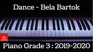 Dance no 8 | Bartok | ABRSM Piano Grade 3 | 2019 - 2020 | HQ