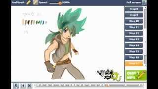 How to draw Kyoya Tategami from Metal Fight Beybla
