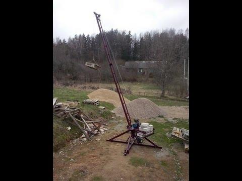 Самодельный подъемный кран Пионер (ч. 1)  Mobile Construction Crane