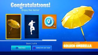"VOICI HOW TO RECUPEL ""FREE"" the GOLD PARAPLUIE on Fortnite! (SEASON 8)"
