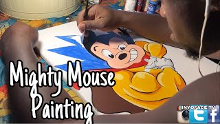 Mighty Mouse Acrylic on Canvas Painting