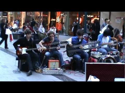 A Band Playing Rock Music in A Sydney Shopping Mall