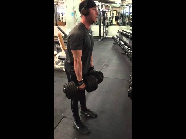 New personal record! Stiff legged dumbbell deadlift with the 100's!