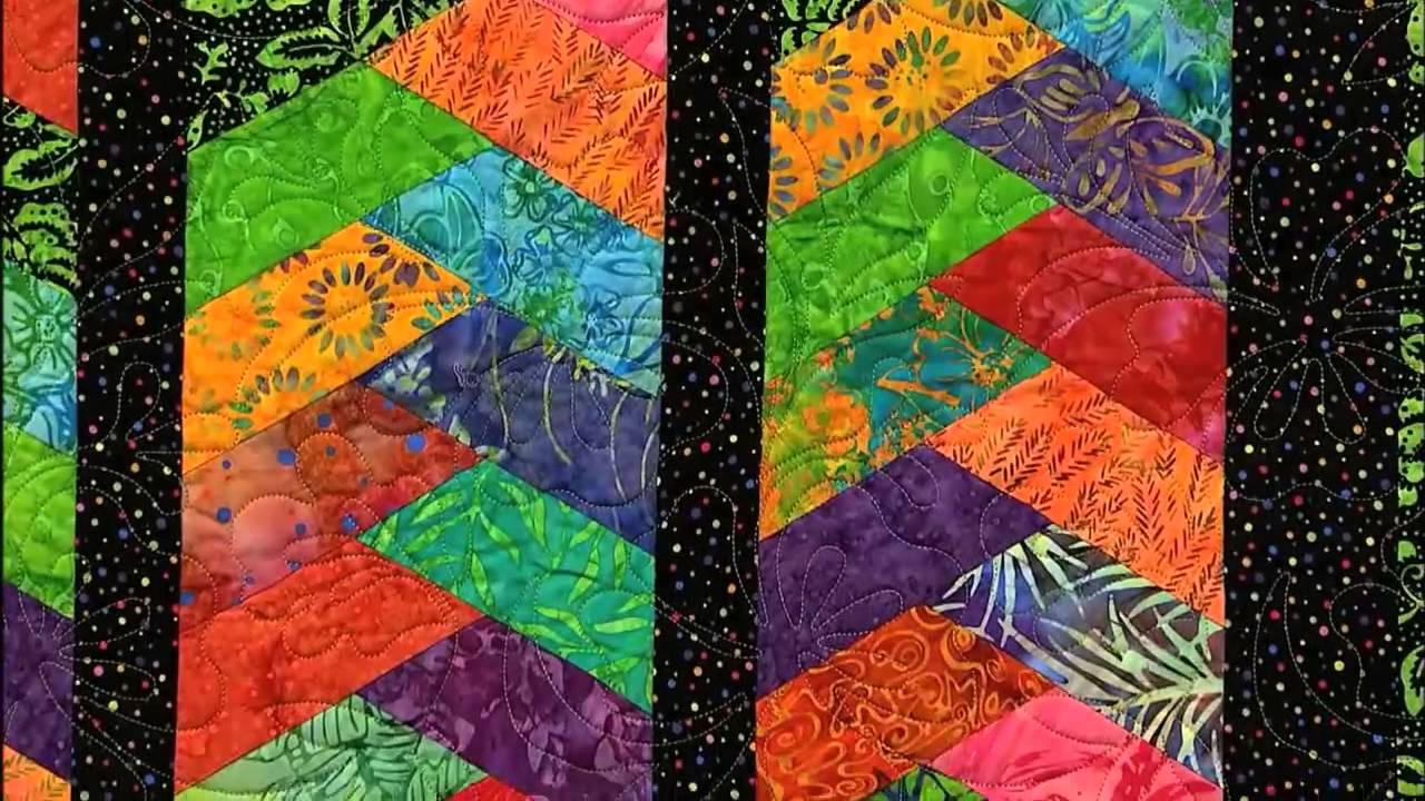 How to Make a Strip Quilt called the Braid Quilt - YouTube : parallelogram quilt pattern - Adamdwight.com
