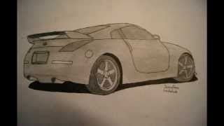 HOW TO DRAW A NISSAN 350Z